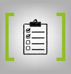 Checklist sign black vector