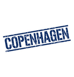 Copenhagen blue square stamp vector