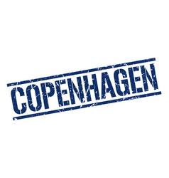 Copenhagen blue square stamp vector