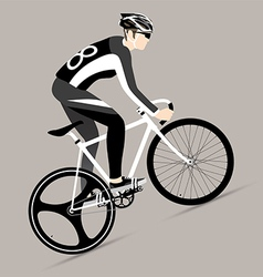 Cyclists and fixed gear bicycle vector