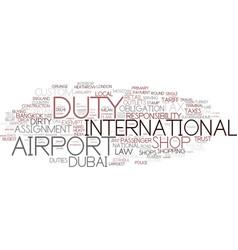 Duty word cloud concept vector