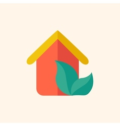 Eco-friendly House Flat Icon vector image