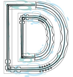 Font letter D vector image vector image