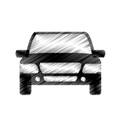Hand drawing car vehicle design icon vector