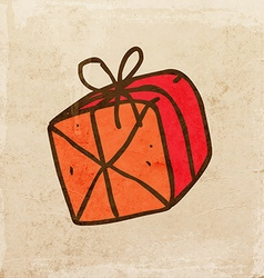 Hand drawn present vector