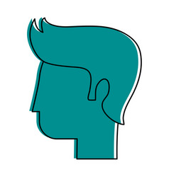 human head profile icon image vector image vector image