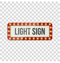 Light sign realistic billboard template vector