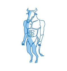 Minotaur greek mythological creature legend image vector