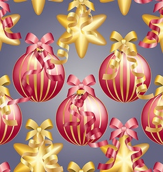 New year pattern with christmas ball sparkles and vector