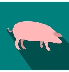 Pig flat icon vector image vector image