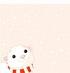 polar bear and snow vector image vector image