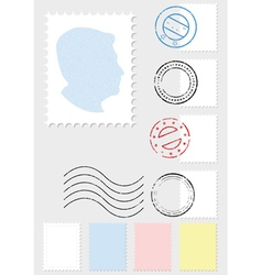 Postage stamp set vector