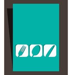 Restaurant menu design with cutlery symbols vector image vector image