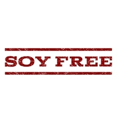 Soy free watermark stamp vector