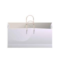 Wide shopping bag vector