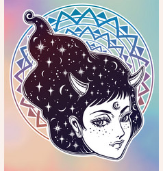 yokai - demon woman in asian folklore vector image vector image