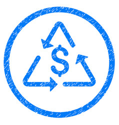 Financial recycling rounded grainy icon vector