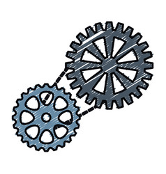 Bike gears design vector