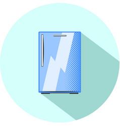 Half-size refrigerator built-in kitchen appliance vector