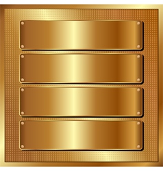 Golden panel vector