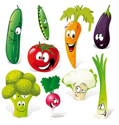 Funny vegetable cartoon vector