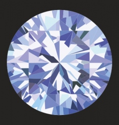 Brilliant diamond vector