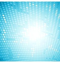 Shiny light halftone blue background vector image