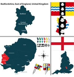 Bedfordshire east of england vector