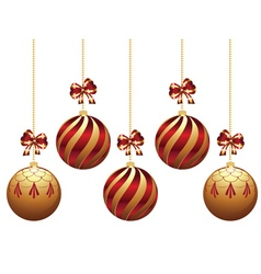 Decorative xmas balls9 vector