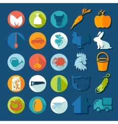 Set of agriculture icons vector