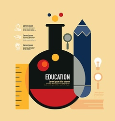 Education template modern minimal flat design vector