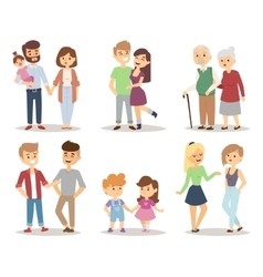 People couple relaxed cartoon vector