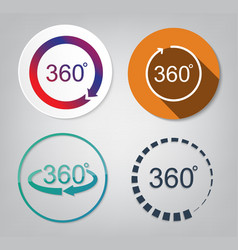 Set of 360 degrees vector