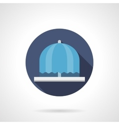Water fountain flat color round icon vector