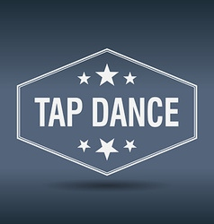 Tap dance hexagonal white vintage retro style vector