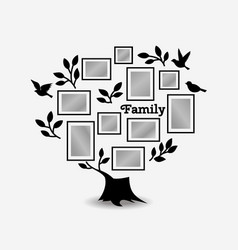 Memories tree with frames vector