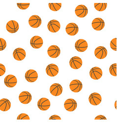 background of basketballs vector image vector image