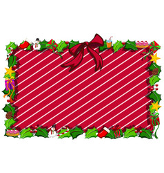 border template with christmas elements vector image