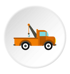 Car tow truck icon circle vector