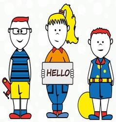 Children cartoon vector image