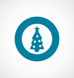 Christmas tree icon bold blue circle border vector