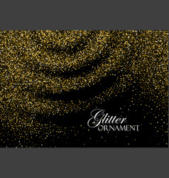 golden confetti glitters vector image