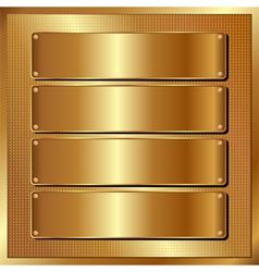 golden panel vector image
