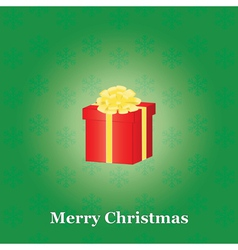 green Merry Christmas background vector image vector image