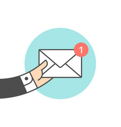 Icon of new mail envelope vector