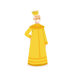 Majestic king fairytale or historical character vector