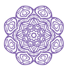Mandala coloring page vintage decorative vector