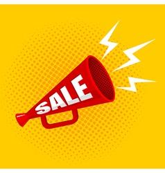 Megaphone sale yellow vector