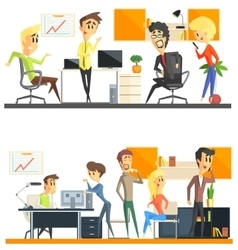 Office team two set vector