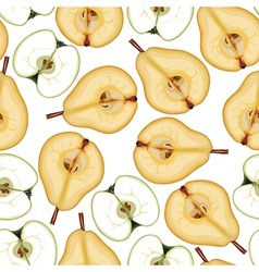 pear apple pattern vector image vector image